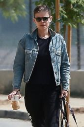 Kate Mara - Walking Her Dogs in LA 08/25/2018