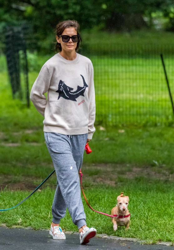 Katie Holmes - Walking Her Dogs in NYC 08/13/2018