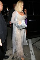 Khloe Kardashian at Kylie Jenner's 21st Birthday Dinner at Craig's in West Hollywood 08/09/2018