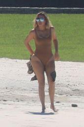 Khloe Kardashian on the Beach in Mexico 08/14/2018