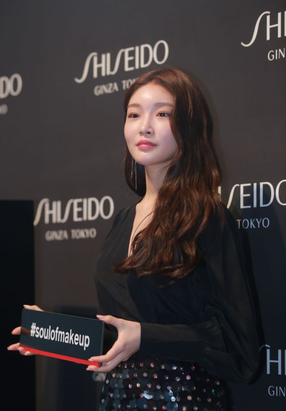 "Kim Chung-ha - ""Shiseido"" Cosmetics Promotion in Seoul 08/22/2018"