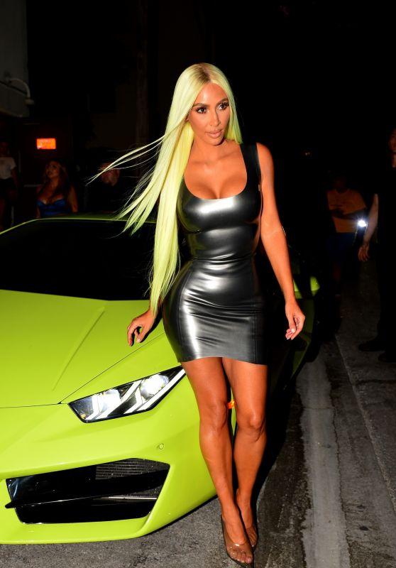 Kim Kardashian Night Out in Miami 08/16/2018