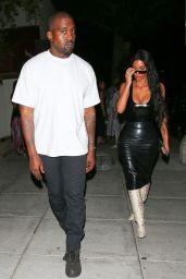 Kim Kardashian Night Out Style - Matsuhisa Restaurant in Beverly Hills 08/07/2018