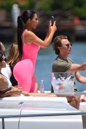 Kim Kardashian on a Yacht in Miami 08/16/2018