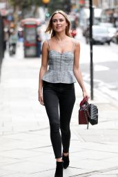 Kimberley Garner Arriving at Channel 5 in London 08/28/2018