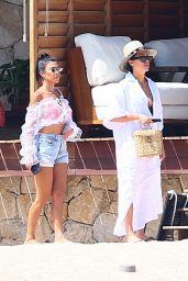 Kourtney Kardashian at a Pool Bar in Cabo San Lucas 08/25/2018