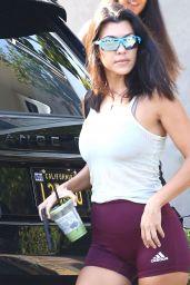 Kourtney Kardashian Leggy in Shorts - LA 08/17/2018
