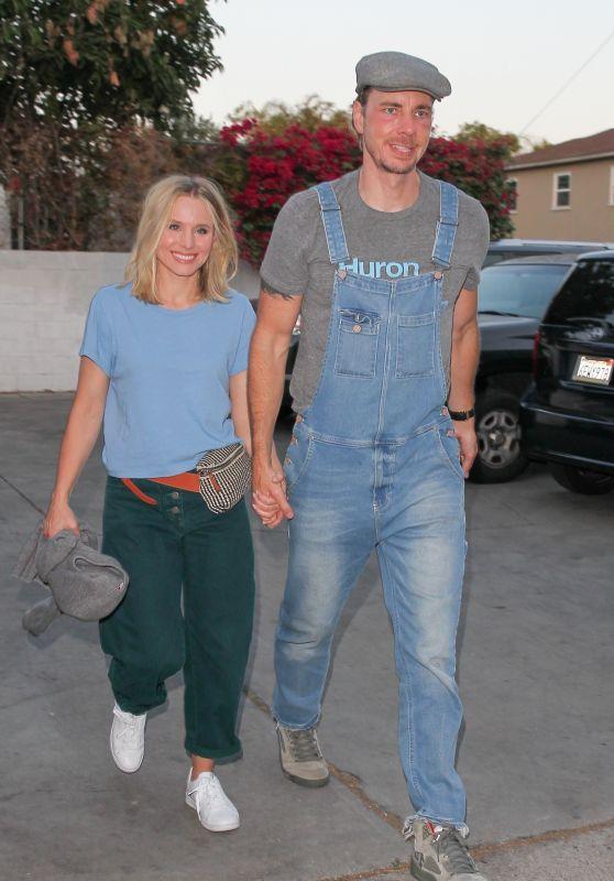 Kristen Bell and Dax Shepard Arriving at Ellen DeGeneres