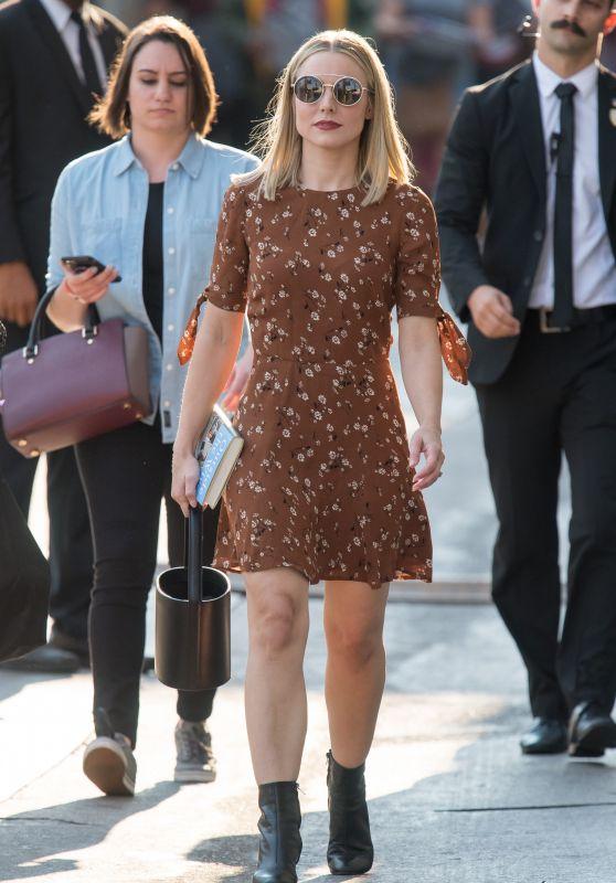 Kristen Bell - Outside Jimmy Kimmel Live in Los Angeles 08/08/2018