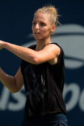 Kristyna Pliskova – Practices Ahead of the 2018 US Open in NYC