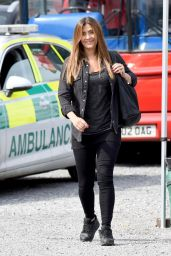 Kym Marsh - Filming Coronation Street Scenes On Set in Manchester 08/31/2018