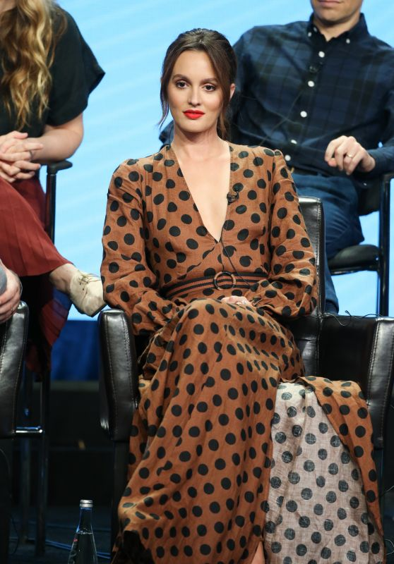 """Leighton Meester – """"Single Parents"""" TV Show Panel at 2018 TCA Summer Press Tour in LA"""