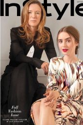 Lily Collins and Clare Waight Keller - InStyle September 2018