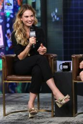 Lily James - BUILD Speaker Series in NYC 08/19/2018