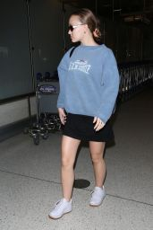 Lily-Rose Depp Casual Style - LAX in Los Angeles 08/15/2018