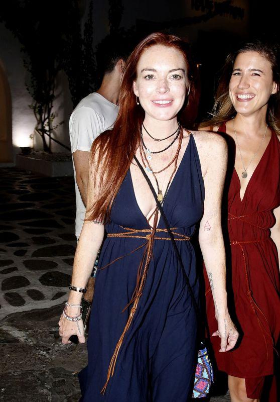 Lindsay Lohan Night Out at Mykonos 08/06/2018