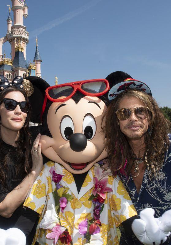 Liv Tyler and Steven Tyler at Disneyland Paris in France 08/05/2018