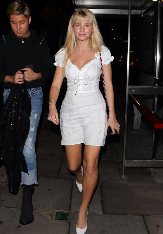 Lottie Moss at Kurobuta Chelsea in London 08/16/2018