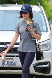 Lucy Hale - Heads to Her Boxing Class 08/09/2018