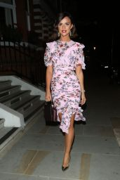 Lucy Mecklenburgh in a Purple Dress - Celebrating Her 27th Birthday in London