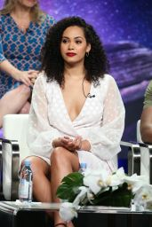 "Madeleine Mantock – ""Charmed"" TV Show Panel at 2018 TCA Summer Press Tour in LA"
