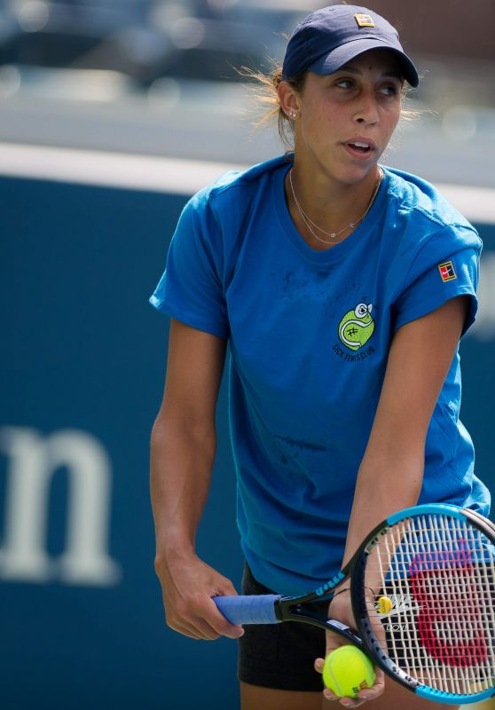 Madison Keys – Practices Ahead of the 2018 US Open in NYC
