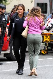 "Mariska Hargitay - ""Law and Order: SVU"" Set in Manhattan 08/24/2018"