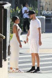 Melanie Brown and Her New Boyfriend - Out in Beverly Hills 08/26/2018