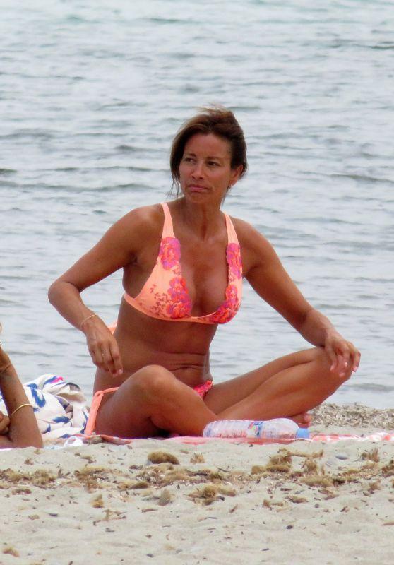 Melanie Sykes at the Beach in Mallorca 08/09/2018