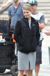 "Melissa Benoist - Season 3 Set of ""Supergirl"" in Vancouver 08/13/2018"