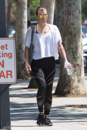 Milla Jovovich in Spandex - West Hollywood 08/08/2018
