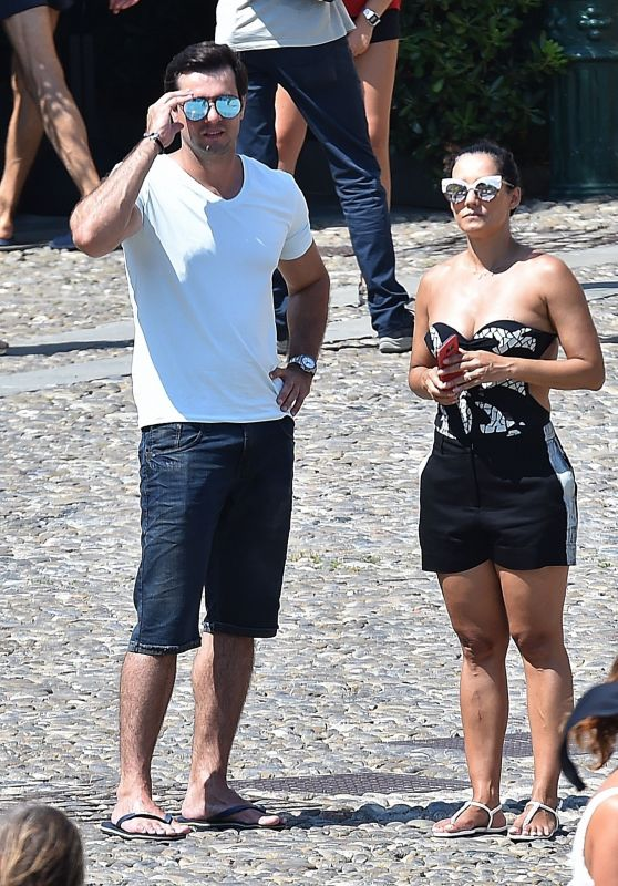 Monica Carvalho and Alahor Paris Junior on Holiday in Portofino 08/17/2018