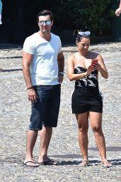 Monica Carvalho and Alahor Paris Junior on Holiday in Portofino 08/17/2018