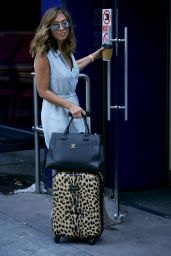 Myleene Klass at Global Radio Studios in London 08/10/2018