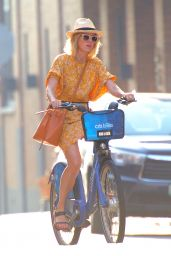 Naomi Watts Riding a Citi Bike in Tribeca, NYC 08/07/2018