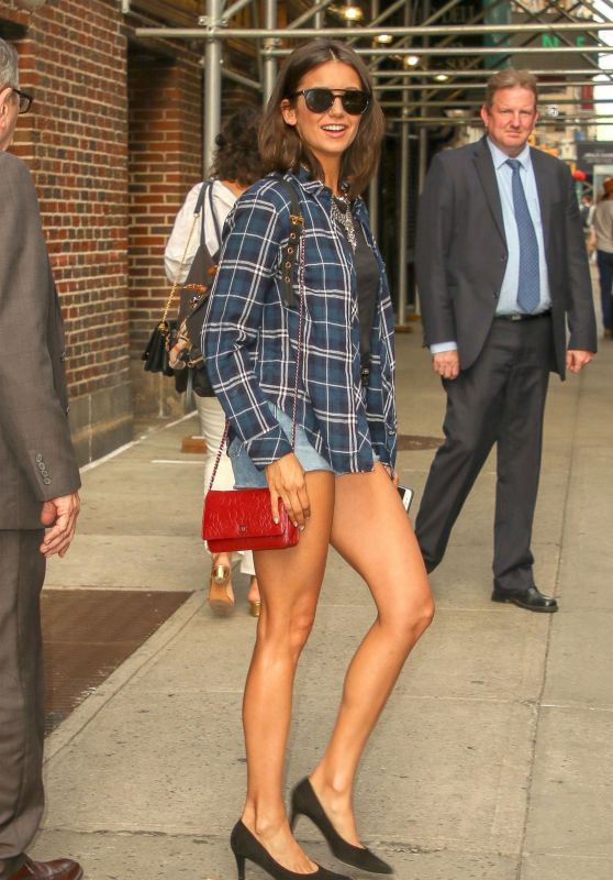 Nina Dobrev - Leaves The Late Show With Stephen Colbert 08/08/2018