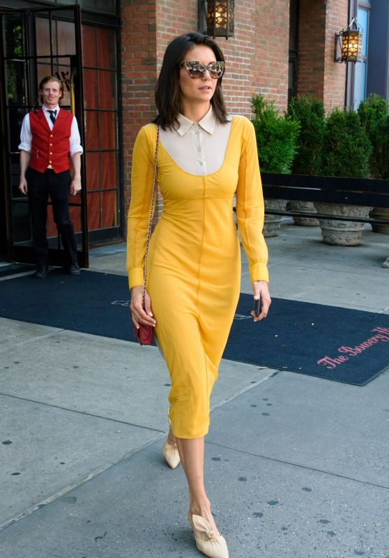 Nina Dobrev Style - NYC 08/08/2018