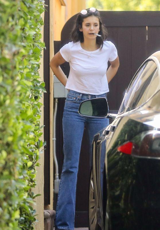 Nina Dobrev - Visit a Friends Home in West Hollywood 08/16/2018