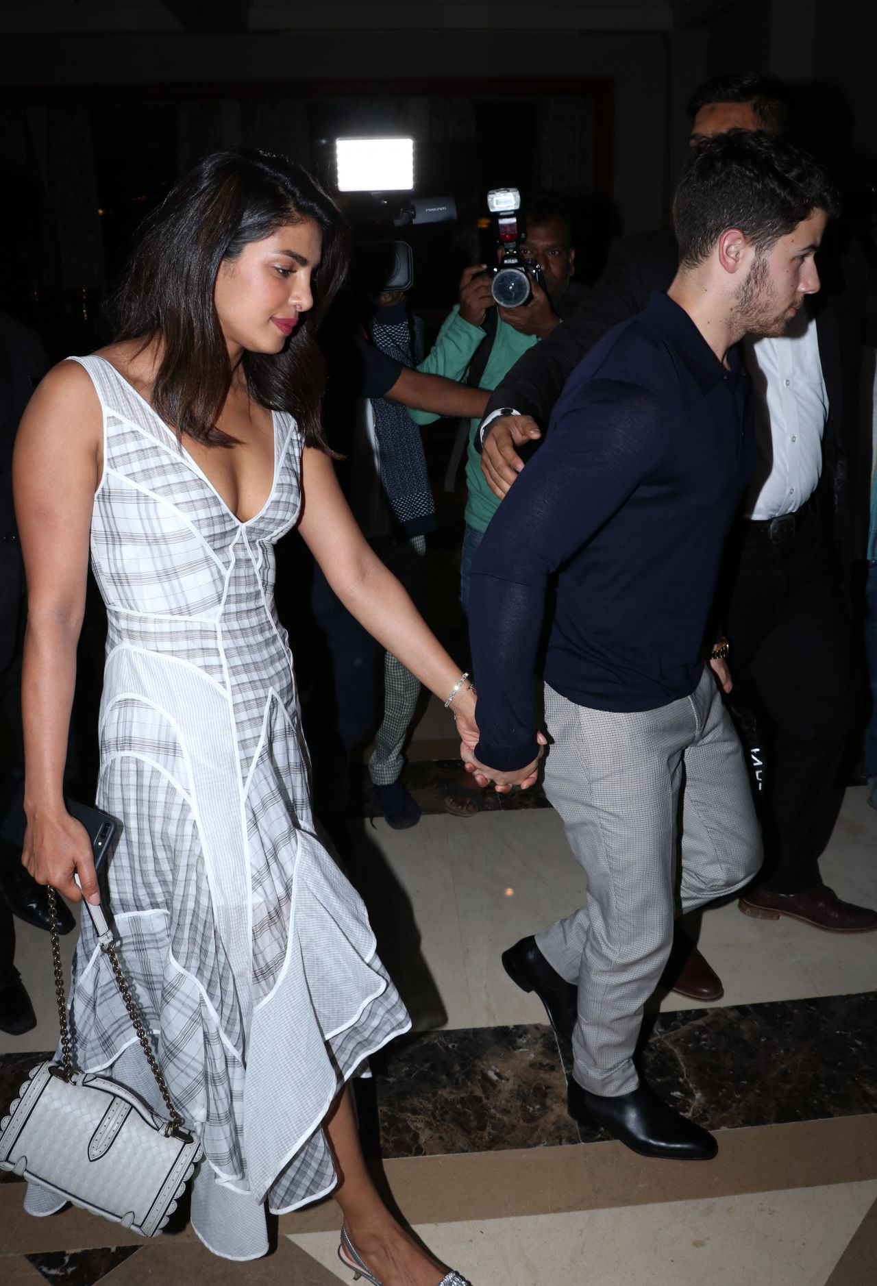 Priyanka Chopra And Nick Jonas At The Jw Marriott In Mumbai 08 17 2018