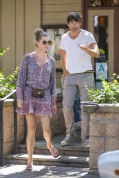Rebecca Romijn in Summer Mini Dress - The Six in Calabasas 08/28/2018