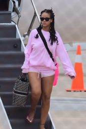Rihanna at Airport in Barbados 08/19/2018