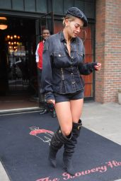 Rita Ora - Leaving Her Hotel in New York City 08/20/2018