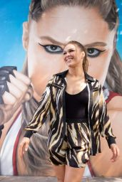 Ronda Rousey - Visits her NYC Mural 08/17/2018