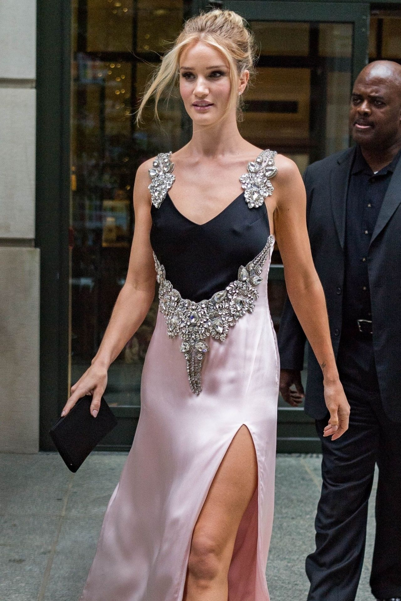 Rosie Huntington Whiteley Leaving Her Hotel In New York
