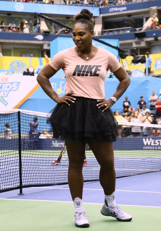 Serena Williams – Arthur Ashe Kids Day at the USTA in Flushing, Queens 08/25/2018