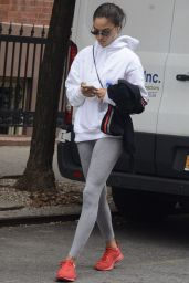 Shania Shaik in Tights - Out in SoHo 08/20/2018