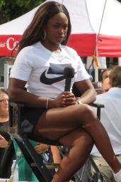 Sloane Stephens - Speaks at US Open Experience in NYC 08/23/2018