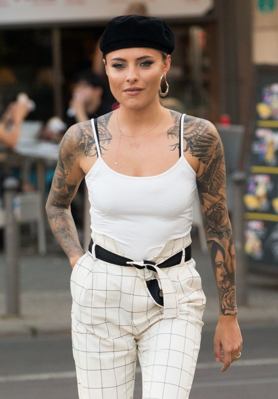 Sophia Thomalla in a White Tank Top in Berlin 08/01/2018