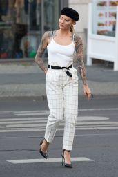 Sophia Thomalla in a White Tank Top in Berlin 08/01/2018