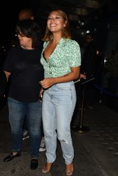 Vanessa White - Leaving Bagatelle in Mayfair 08/29/2018
